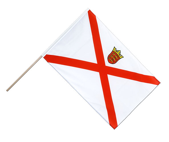 Jersey Hand Waving Flag for Liberation Channel Islands 18x12 inch