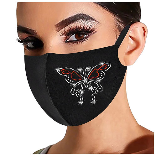 Face Mask washable and reusable protection adult size Bling Rhinestone