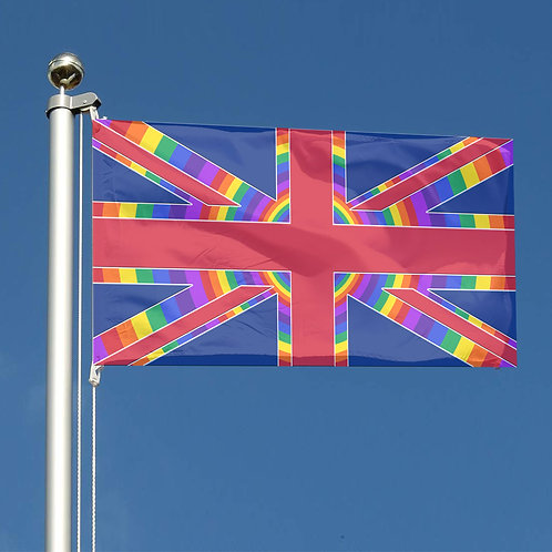 Key Workers Thank You Rainbow circles Union Jack flag UK Together
