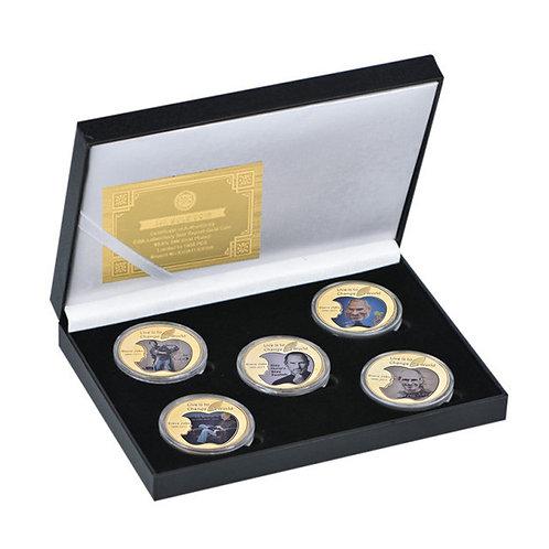 Steve Jobs Commemorative Apple Founder Presentation Collectors coin 5 piece set