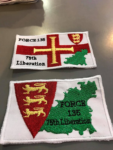 75th Liberation Day of Guernsey 9th May 1945 Sew On Patch