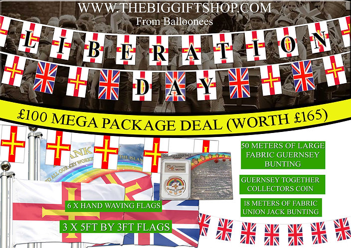 Liberation Bundle Deal Flags and Bunting - save £65