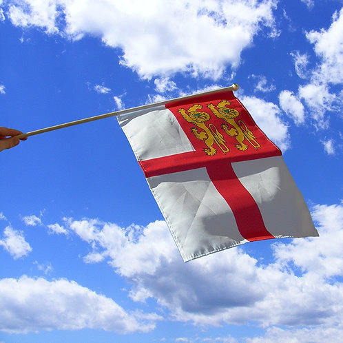 Channel Island of Sark Hand Waving Flag for Liberation 18x12 inch