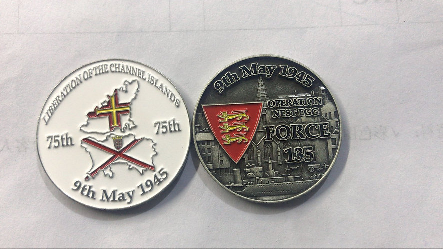 Liberation Memento Coin 75th Anniversary Guernsey Jersey Force 135