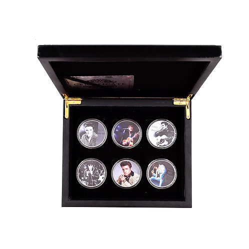 The King of Rock and Roll Elvis Presley Presentation Collectors Coin Set of 6