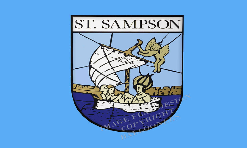 Guernsey Parish flag of St Sampson Channel Islands