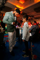 Elvis Andrus Signs Autograph for Young Texas Rangers Fan