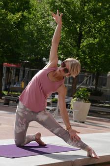 Yoga in Sundance Square