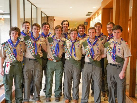 Flying High: Episcopal School Of Dallas Celebrates 12 Eagle Scouts