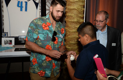Joey Gallo Signing Autograph for Texas Rangers Fan