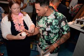 Asdrubal Cabrera Signs Autographs for Texas Rangers Fan