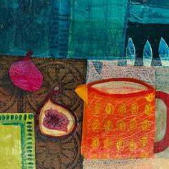 Orange jug and figs