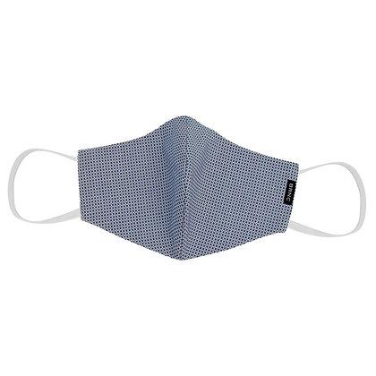 Máscara de Tecido Tricoline Fio 120 100% Algodão - Cor Azul