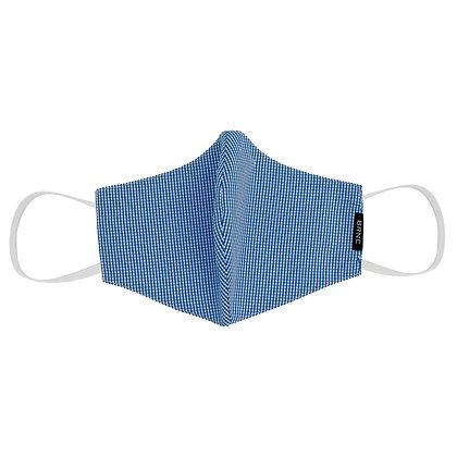 Máscara de Tecido Tricoline Xadrez Fio 120 100% Algodão - Cor Azul