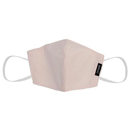 Máscara Infantil de Tecido Tricoline Xadrez Fio 120 100% Algodão - Cor Rosa