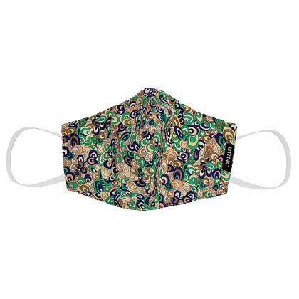 Máscara Infantil de Tecido Liberty Fio 120 100% Algodão  Cor Verde