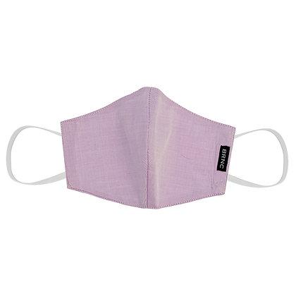 Máscara Infantil de Tecido Tricoline Lisa Fio 120 100% Algodão - Cor Rosa