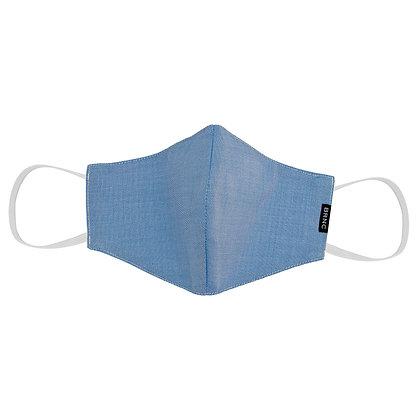 Máscara de Tecido Tricoline Lisa Fio 120 100% Algodão - Cor Azul