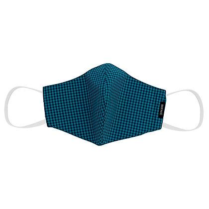 Máscara de Tecido Tricoline Xadrez Fio 140 100% Algodão - Cor Verde