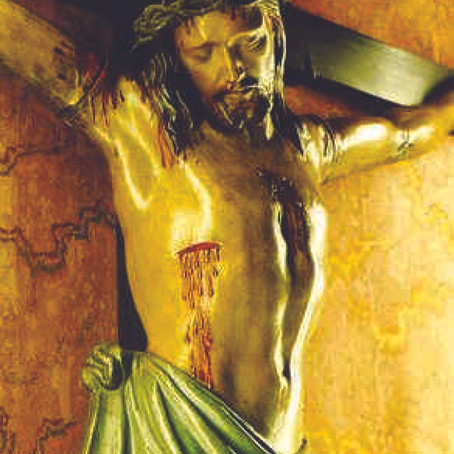 Céleste médecin élevé sur la Croix pour guérir nos plaies par les vôtres.
