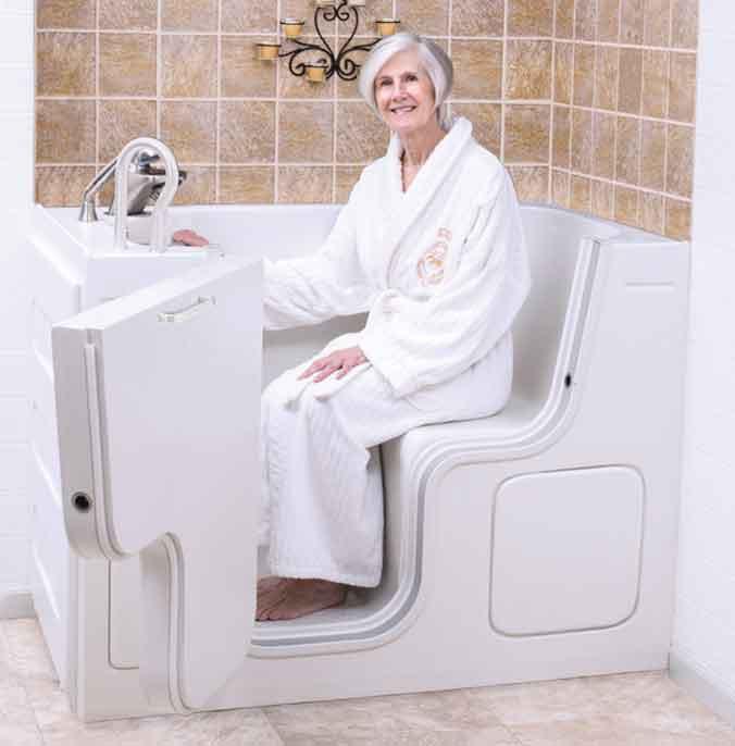 Sit Down SanSpa Walk In Tubs