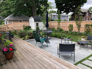 Sunny side deck & patio