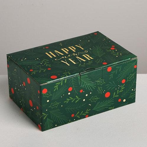 Коробка складная «С новым годом», 22 × 15 × 10 см