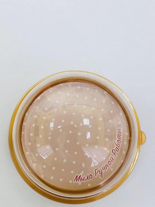 Вкладыш в купол 'Мыло ручной работы' (розовый горох)