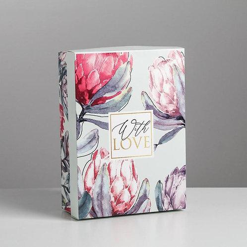 Коробка складная «Цветочная», 21 × 15 × 7 см
