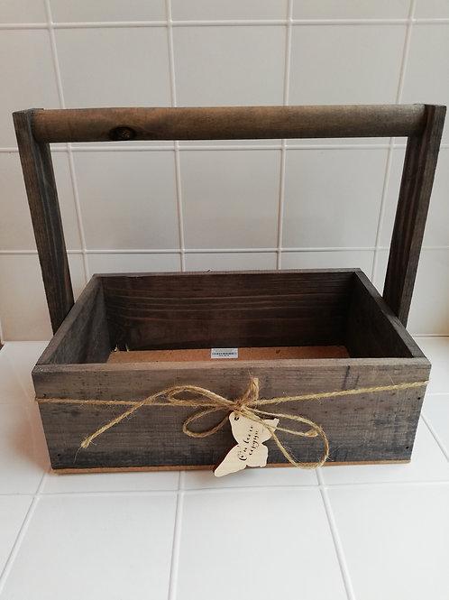 Ящик деревянный с ручкой средний