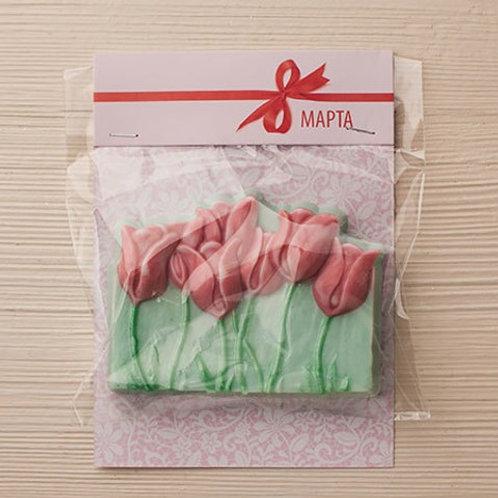 Клапан-открытка '8 марта. Кружево'