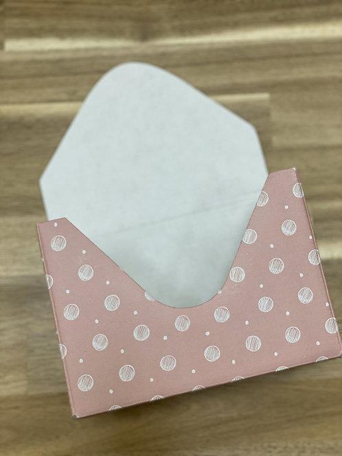 Кашпо-конверт 'Горох розовый'