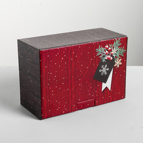 Коробка складная «Тепла и уюта», 22 × 15 × 10 см