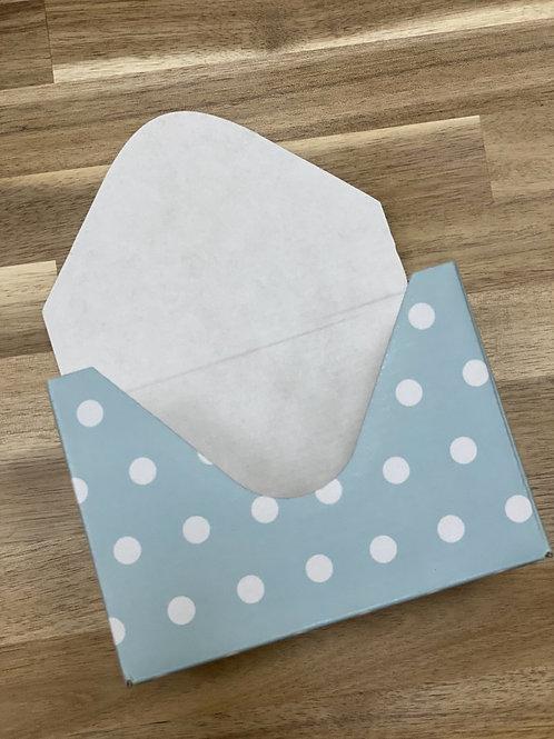 Кашпо-конверт 'Горох бирюзовый '