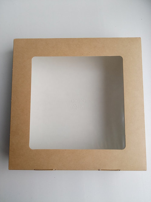 Коробка ЭКО с окошком квадратная