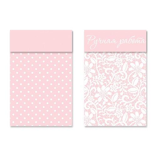 Клапан-открытка 'Горошек на розовом фоне'