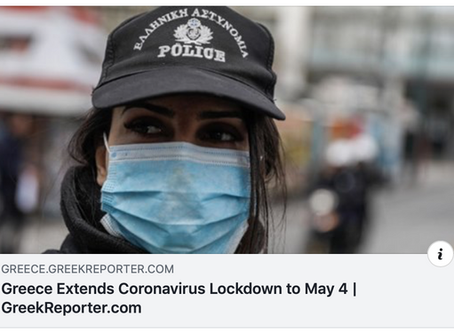 Greece Extends Coronavirus Lockdown to May 4