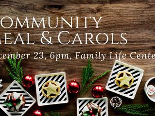Community Meal & Christmas Carols