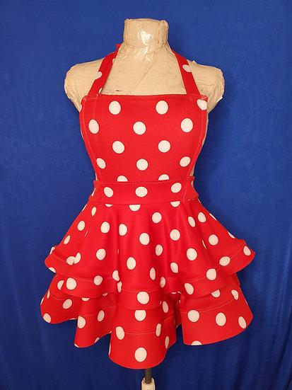 Polka Dot Overall Dress