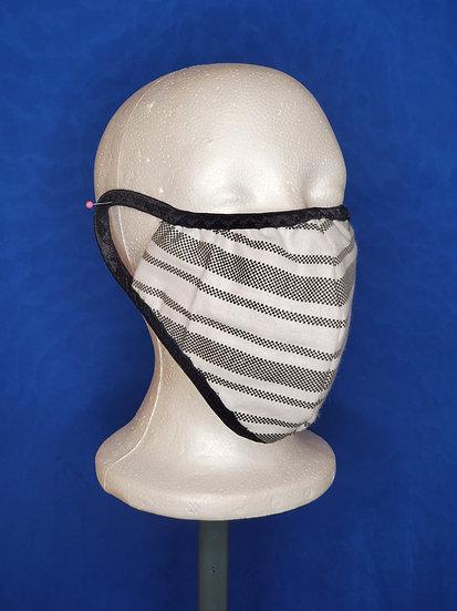 Grey Stripe Face Mask