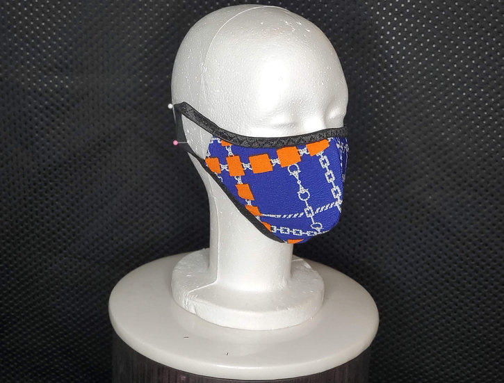 Orange Blue Face Mask