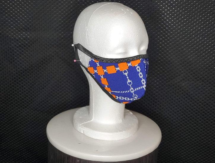 Orange Blue Face Mask