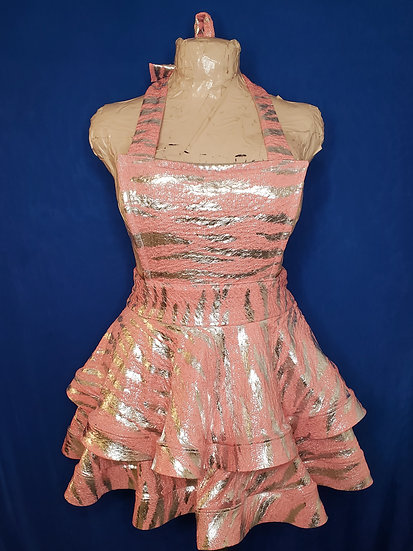 Baby Pink Overall Dress
