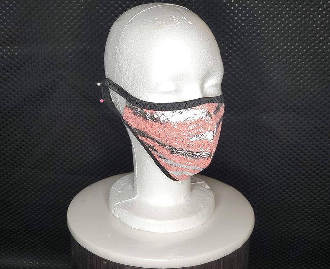 Pink/Silver Foil Face Mask