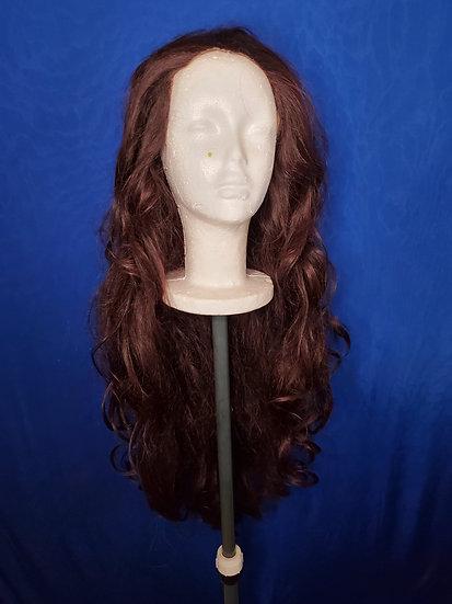Long Auburn Lace Front Wig