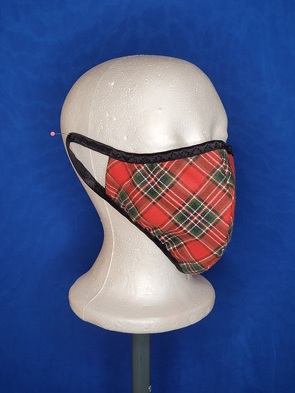 Red/Green Plaid Face Mask