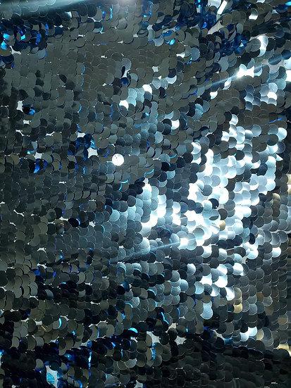 Blue Sequin Fabric