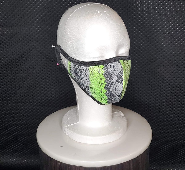 Lime Snake Face Mask