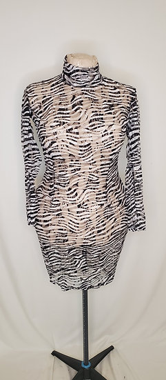 Zebra Lace mini dress