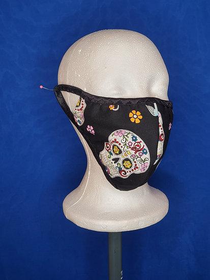Glitter Skull Face Mask